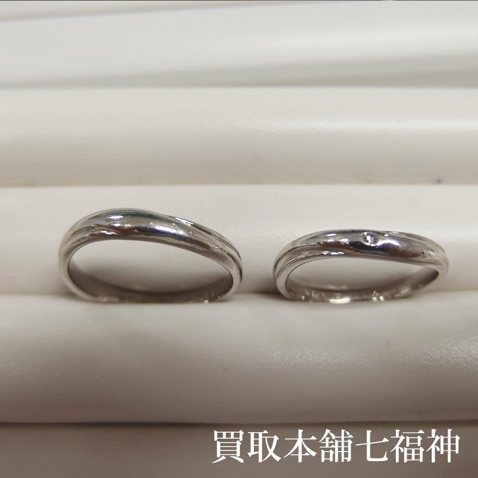 Pt1000結婚指輪