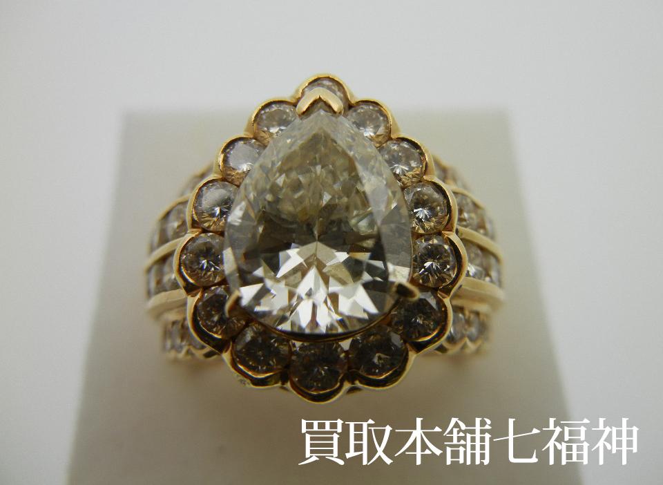 K18 ダイヤモンドリング 3.099ct 2.47ct