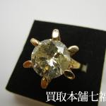 【買取相場1,280,000~1,570,000円】K18 立て爪ダイヤモンドリング 5.787ct・メレダイヤモンド0.81ctをお買取致しました。