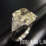 【買取相場3,840,000~4,070,000円】Pt900 エメラルドカットダイヤモンドリング  中石 7.00ct 脇 1.5ct をお買取致しました。
