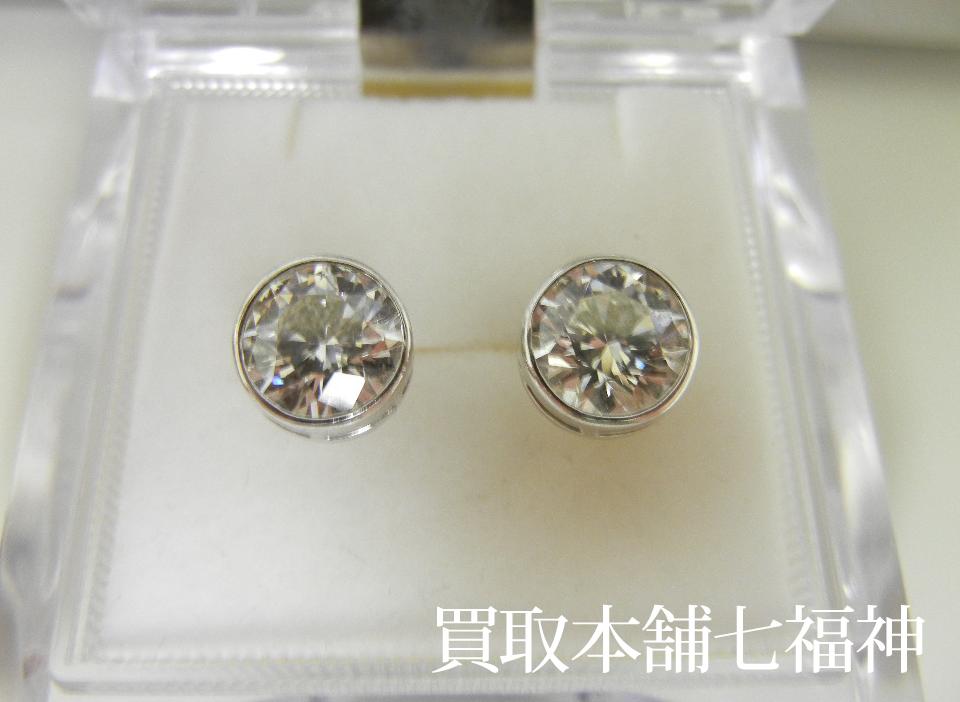 Pt900 ダイヤモンド1.5ct×2ピアス