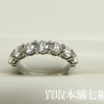 【買取相場110,000~120,000円】Pt950 TIFFANY(ティファニー) ハーフサイクル シェアドプロングダイヤモンドリングをお買取り致しました。