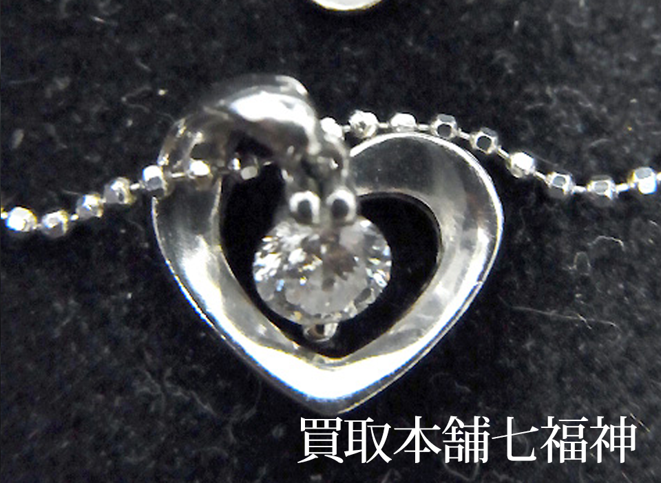 4℃(ヨンドシー)のK18WG ダイヤモンドネックレス