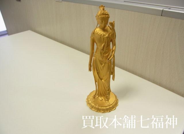 K24(24金)純金 聖観音菩薩(仏像・置物)