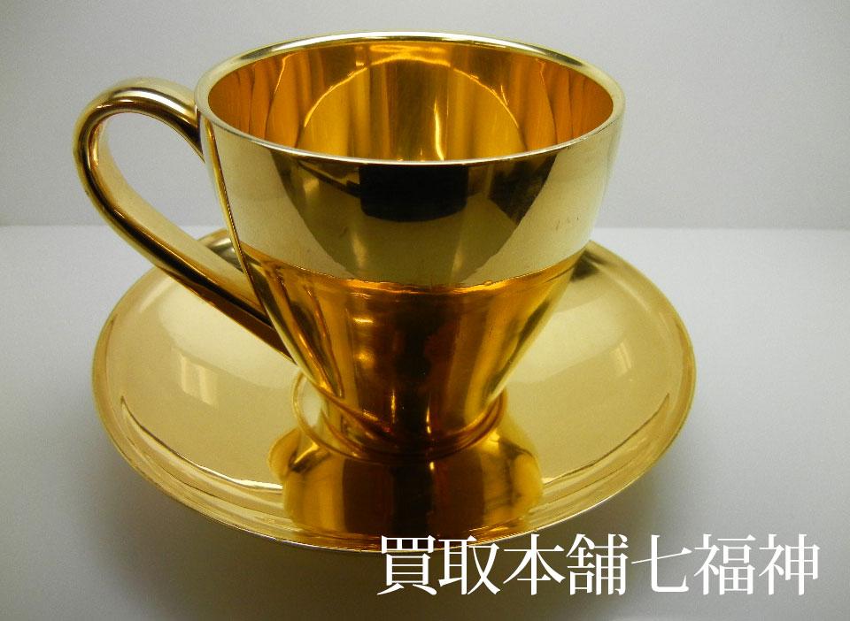 K24(純金)コーヒーカップ&ソーサー