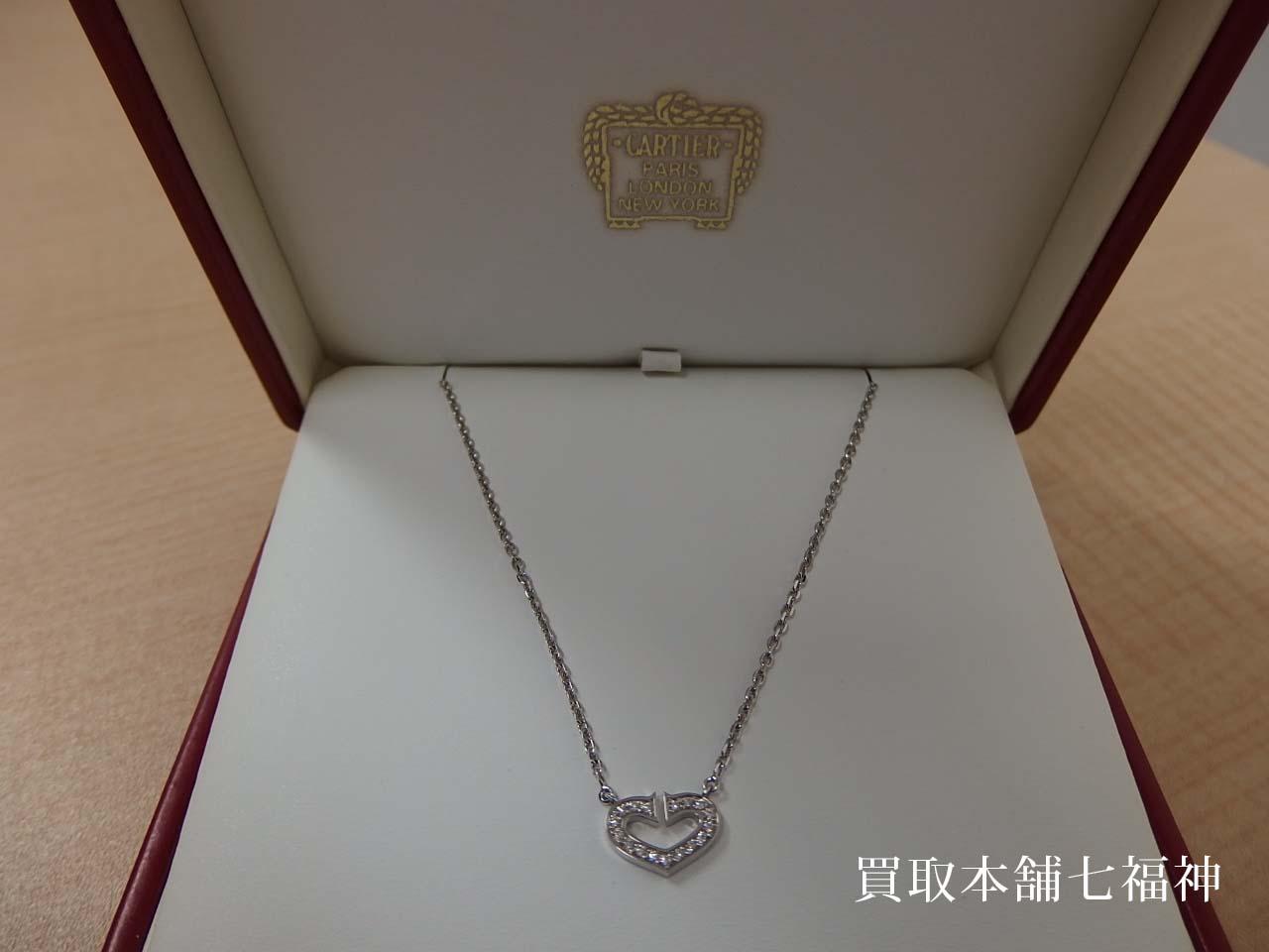 Cartier(カルティエ)のCハートダイヤネックレス