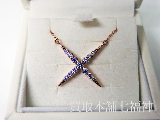 ダイヤモンド付きのPGデザインネックレス