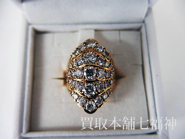 メレダイヤモンド付きのK18リング