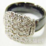 メレダイヤがたくさんついているPt900セラミックリング