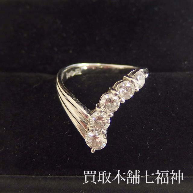 ダイヤモンド付きプラチナリング