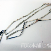 Pt900 プラチナ 切子デザインネックレス
