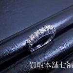 【買取相場15,000~20,000円】Pt900 メレダイヤモンド付プラチナリングをお買取致しました。