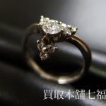 【買取相場20,000~25,000円】Pt900 プラチナ チャーム付きメレダイヤリングをお買取致しました。