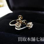【買取相場10,000~15,000円】Pt850 プラチナ メレダイヤ付きイヤリングをお買取致しました。