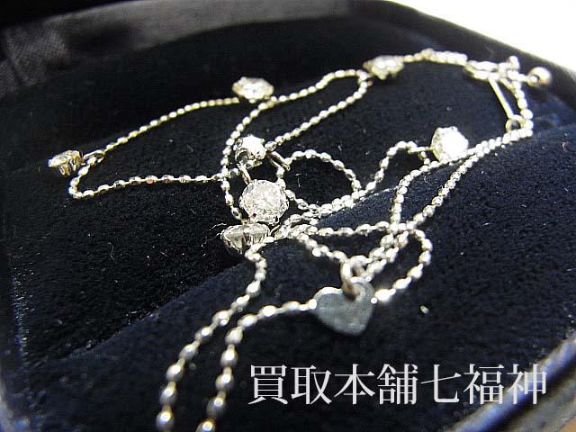 Pt850 プラチナ メレダイヤモンド 1.10ct付き ネックレス