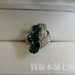 【買取相場50,000~70,000円】Pt900 グリーントルマリンリング 4.72ct ダイヤ付をお買取致しました。