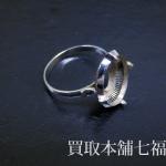 石がないK10WGのリング
