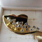 【買取相場50,000~60,000円】K18 メレダイヤモンドブローチ 0.72ctをお買取致しました。