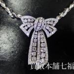 【買取相場400,000~450,000円】K18WGダイヤモンドネックレス7.50ctをお買取致しました。