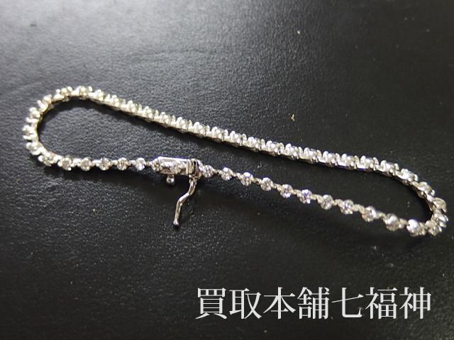 合計2ctのメレダイヤが付いているテニスブレスレット